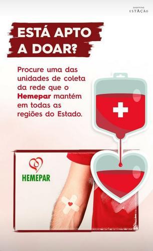 Shopping Estação e Hemepar fazem parceria para incentivar doação de sangue