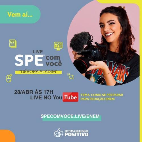 Débora Aladim ensina como se preparar para o Enem em live gratuita