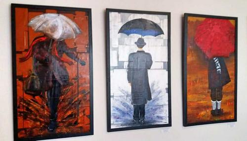 """Exposição """"Guarda-Me Chuva"""" de Oswaldo Fontoura Dias, na Kaiut Yoga"""