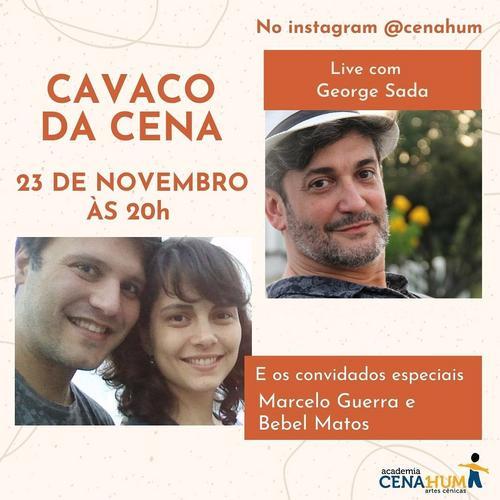Casal de atores participa de live da Cena Hum