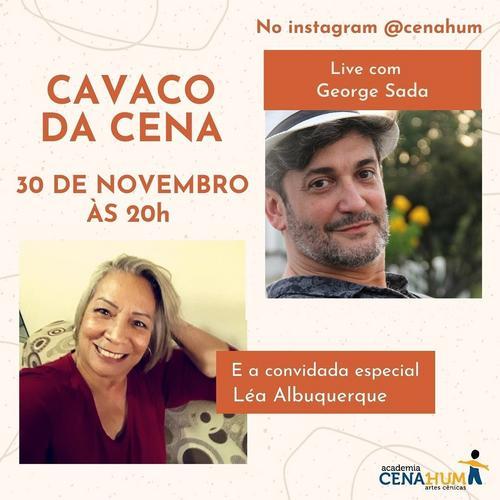 """George Sada convida Léa Albuquerque para o """"Cavaco da Cena"""""""