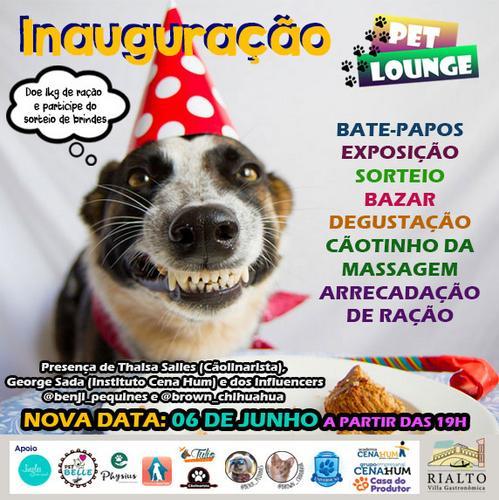 Em nova data, Pet Lounge da Rialto será inaugurado nesta quinta-feira