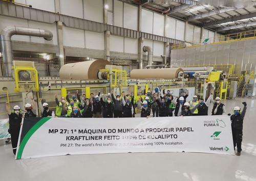 Klabin inicia produção de inovadora linha de kraftliner MP 27, fornecida pela Valmet