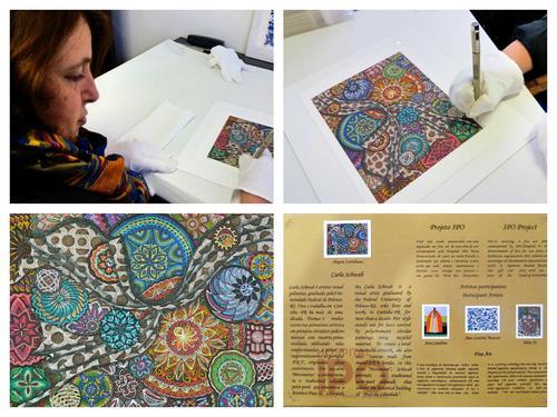 Carla Schwab assina sua 1ª Fine Art para o Projeto Cultural do Hospital IPO