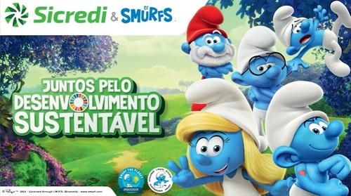 Parceria entre Sicredi e Smurfs alcança 2 milhões de visualizações