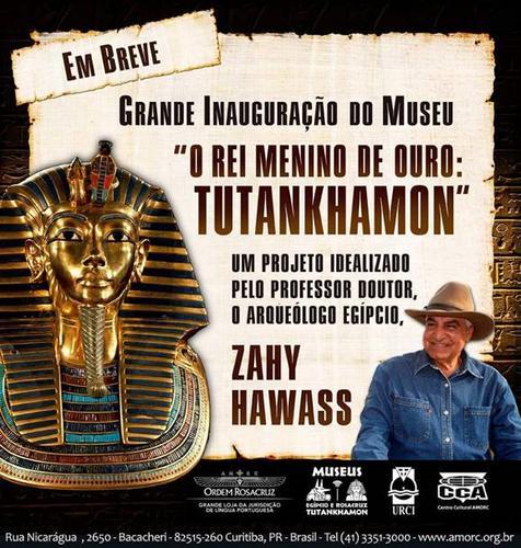 """""""O Rei Menino de Ouro: Tutankhamon"""" Polo turístico e cultural egípcio da cidade inaugura museu"""