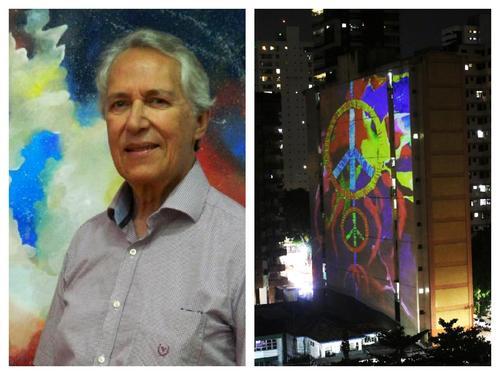 Artista de Curitiba, Luiz Felix, tem obras projetadas nos prédios em Belém do Pará