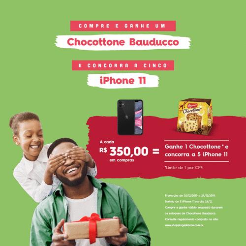 Shopping Estação faz compre e ganhe de Chocottone Bauducco e sorteia cinco iPhones 11 neste natal