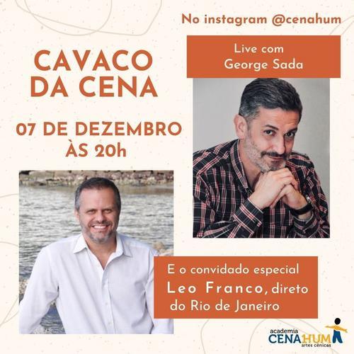 Ator e produtor carioca Leo Franco participa da live Cavaco da Cena
