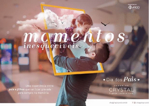 De filho para pai: Shopping Crystal promove campanha especial no Dia dos Pais