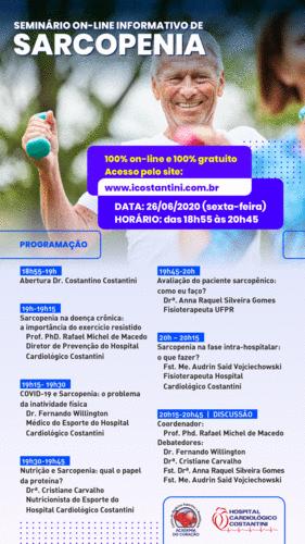 Hospital Cardiológico Costantini realiza seminário on-line e gratuito sobre Sarcopenia