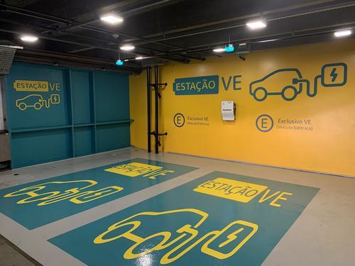 Shopping Estação agora conta com carregador de carros elétricos