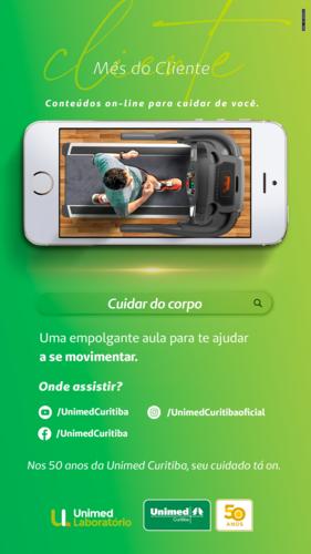 Unimed Curitiba lança conteúdos gratuitos de cuidados com o corpo