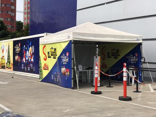 Natal: BFR instala container no estacionamento do Ventura Shopping