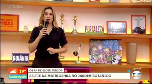 Eloir Jr., artista plástico curitibano, é destaque em cenário no programa da Rede Globo