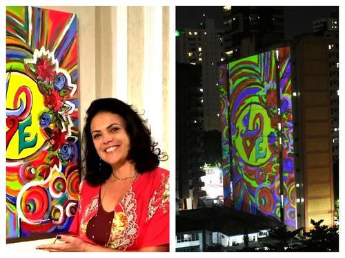 Artista multimídia, Katia Velo, tem obras projetadas nos prédios em Belém do Pará