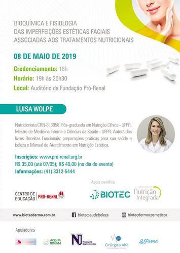 Fundação Pró-Renal promove palestra com a nutricionista Luísa Wolpe