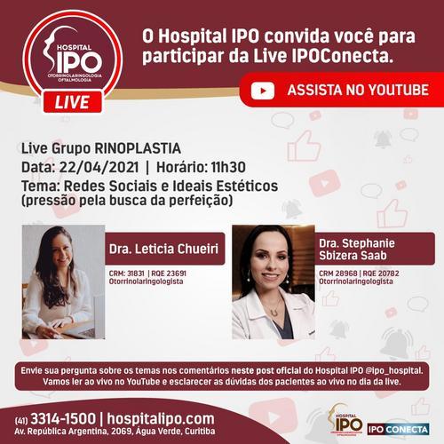 Hospital IPO promove live sobre Redes Sociais e Ideais Estéticos