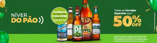 Aniversário Pão de Açúcar: todas as cervejas especiais com 50% de desconto nesta sexta-feira (27/8)