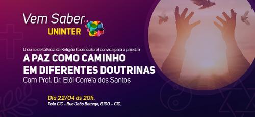 Uninter promove palestra sobre a paz em Curitiba