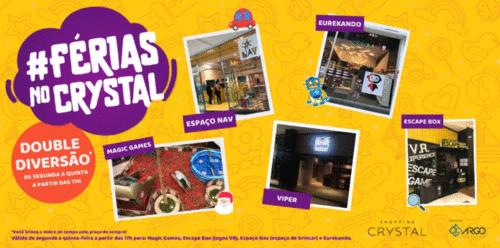Shopping Crystal tem programação especial e descontos durante as férias