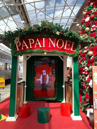 Interação com Papai Noel digital do Shopping Estação pode ser feita até dia 24