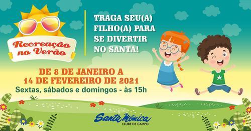 Santa Mônica promove em janeiro Recreação ao ar livre para crianças