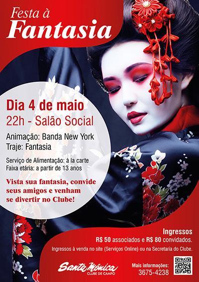 Festa à Fantasia no Santa Mônica Clube de Campo promete muita diversão