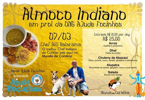 Mundo de Coralina promove almoço indiano para humanos e cães