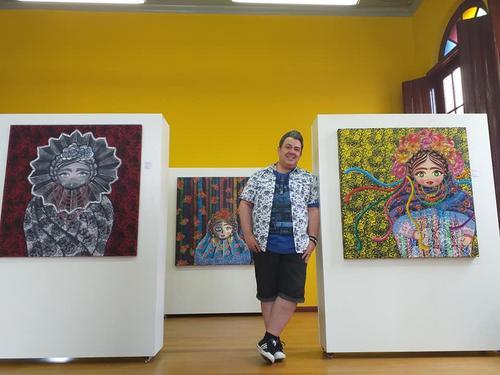 Casa da Cultura de Colombo-PR, recebe a exposição KORIN, do artista curitibano Eloir Jr.
