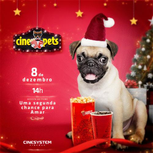 Cine Pets do Shopping Curitiba tem sessão natalina neste domingo (8)