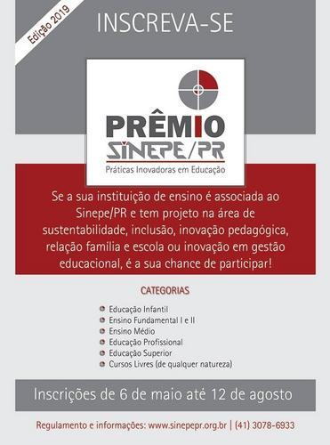 Sinepe/PR abre inscrições para o Prêmio Práticas Inovadoras em Educação