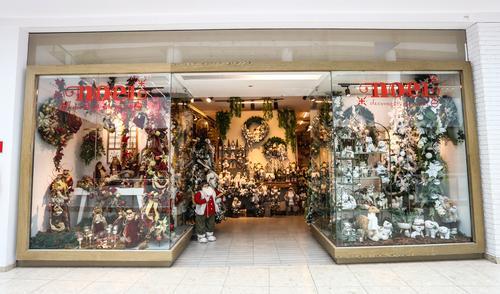 Decoração de Natal na vitrine