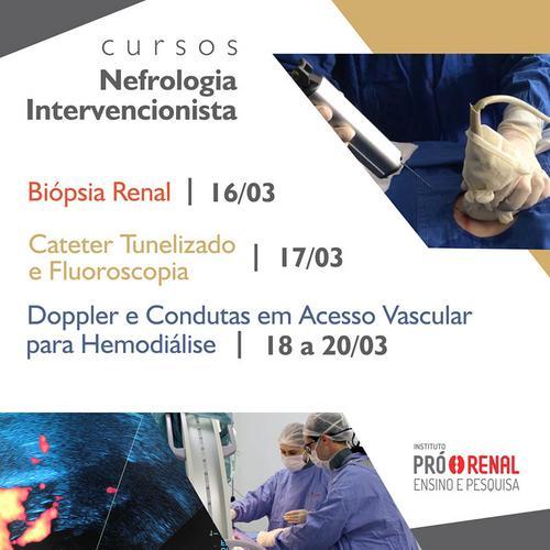Fundação Pró-Renal promove curso de Nefrologia Intervencionista