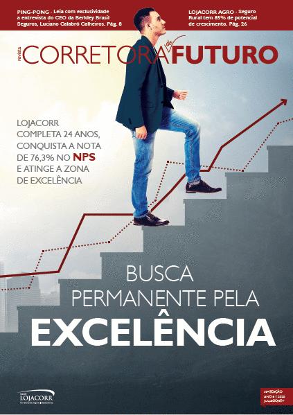 Revista Corretora do Futuro lança 33ª edição nos 24 anos da Rede Lojacorr