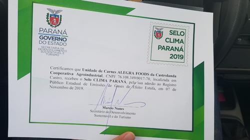 Governo do Paraná homenageia empresas preocupadas com o meio ambiente