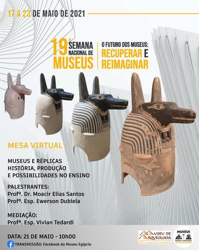 Evento on-line do Museu Egípcio & Rosacruz Tutankhamon apresenta a história das réplicas
