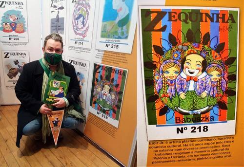 Artista curitibano Eloir Jr., cria figurinha para a edição especial do Álbum do Zequinha
