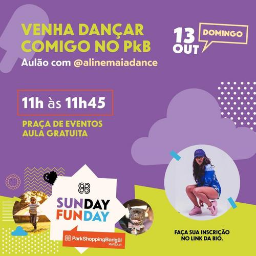 Aulão com Aline Maia Dance dia 13 de outubro no ParkShoppingBarigui
