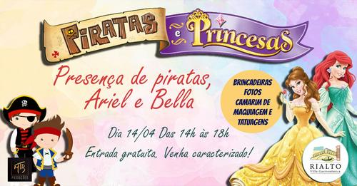 Tarde de piratas e princesas anima criançada na Rialto Villa Gastronômica