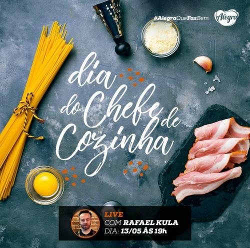 Dia do Chefe de Cozinha: live ensina prato simples e prático para fazer durante o isolamento